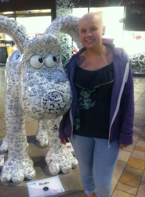 Leah & Doodles, 2/9/13, Cabot Circus Shopping Centre in Bristol