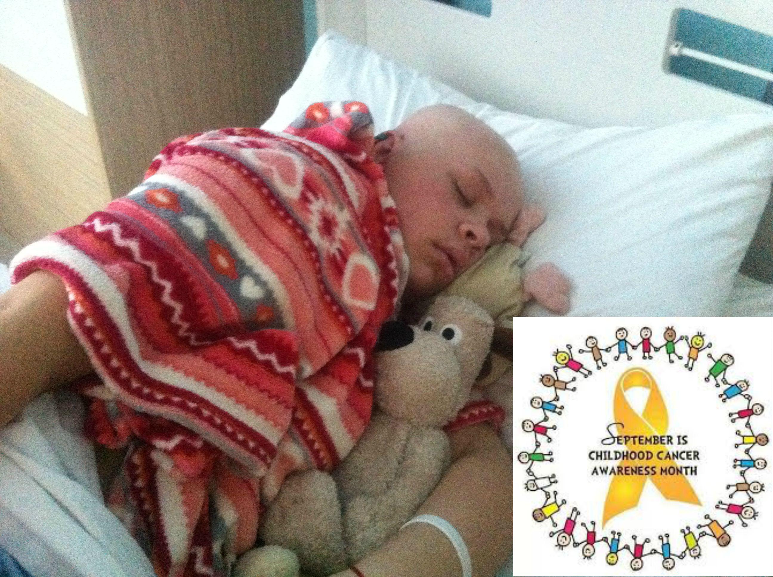 Leah asleep - awareness month
