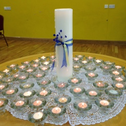 Candles lit in memory of our children
