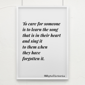 To care for someone