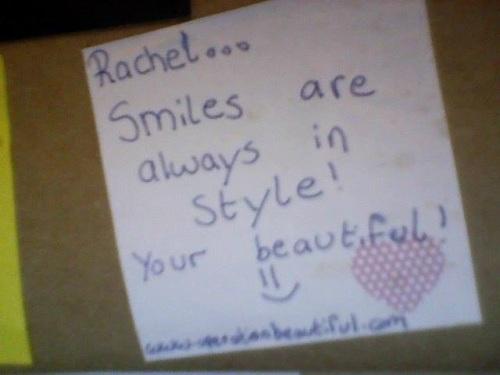 Rachel's Post It
