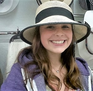 Leah in a hat 2012